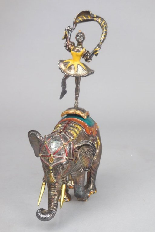 Tiffany & Co. sterling and enamel circus Performer