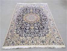Hand tied Persian rug, Nain