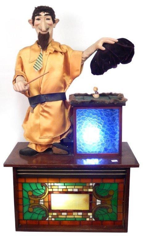Large automaton magician