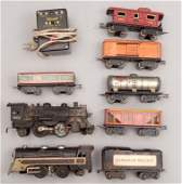 Marx pre-war Canadian Pacific freight train set