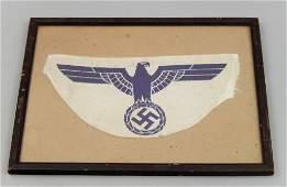 Framed WWII German Navy sport shirt eagle
