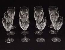 Set of twelve Waterford Araglin crystal water goblets