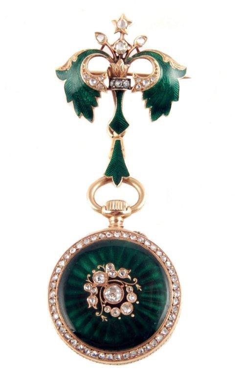 A. Golay Leresche & Fils 18k gold pendant watch
