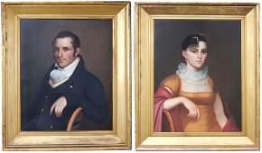 American School pair of oils on canvas