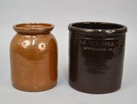 Two Stoneware Crocks, Dipple And Cowden