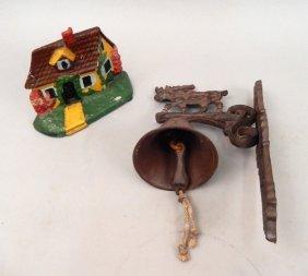 Cast Iron Door Stop And Bell