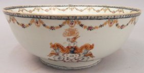 Chinese Export Armorial Porcelain Bowl