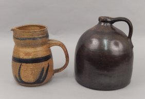 Stoneware Jug And Pitcher