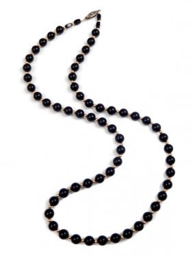 Vintage Black Onyx Necklace