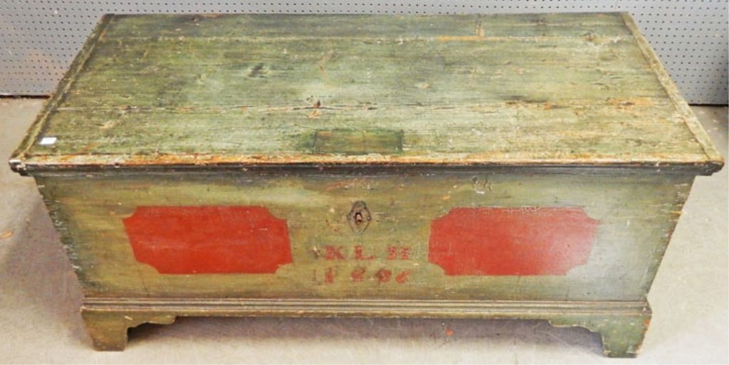 Painted blanket chest dated 1826