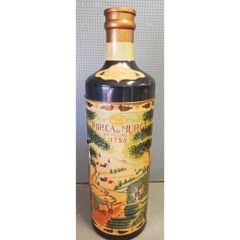 Liquor cabinet in wine bottle form