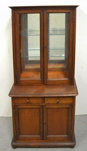 Miniature Mahogany Display Cabinet