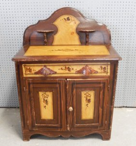 Cottage Pine Victorian Washstand