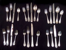 Collection Of Christofle Silver Plated Place Settings
