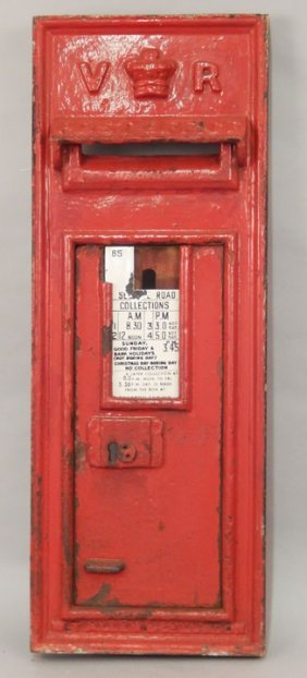Victorian Cast Iron Wall Mounted Letter Box
