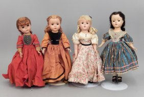 Four Madame Alexander Little Women Dolls