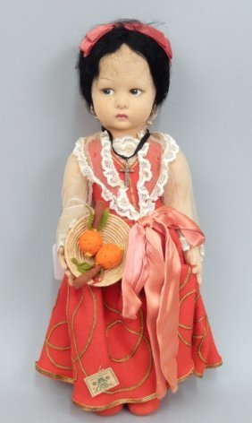 1940's Lenci Doll, All Original