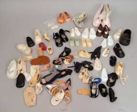 Grouping Of Vintage And Modern Doll Shoes