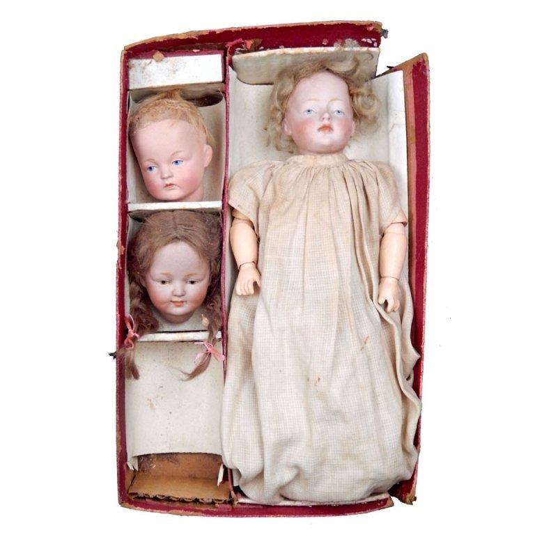 Kestner Character doll boxed set