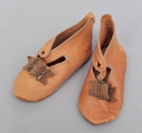 Pair Of Jumeau Doll Shoes