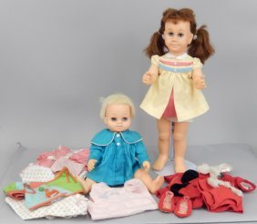 Mattel Chatty Cathy And Chatty Baby Dolls And Clothes