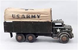 Marx Lumar US Army pressed steel truck