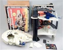 Star Wars Millennium Falcon and Death Star Space