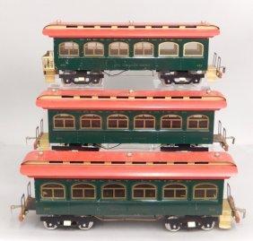 Three Classic Model Train Cars