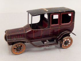 Bing Windup Tin Litho Sedan Car