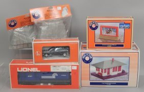 Grouping Of Lionel Trains And Accessories In Boxes