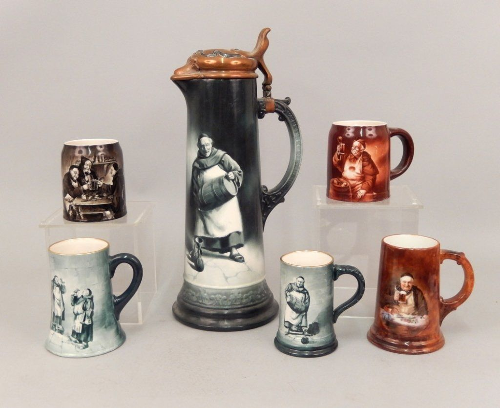 Six pieces of Lenox and American Belleek