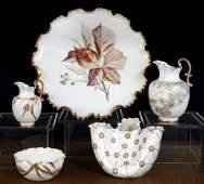Grouping of American Belleek porcelain