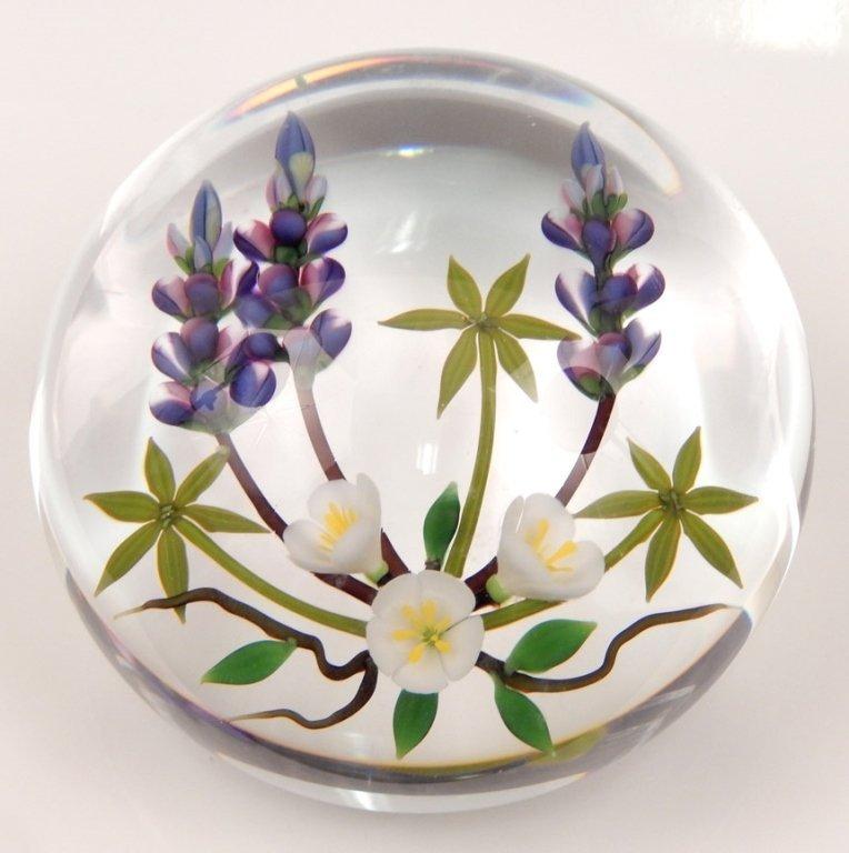 Chris Buzzini art glass paperweight