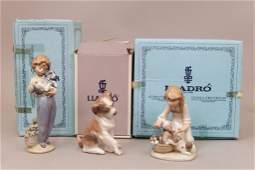 Three Lladro porcelain figurines in original boxes