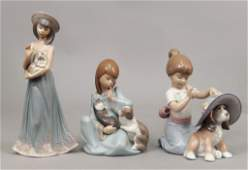Three Lladro porcelain figurines in original boxes
