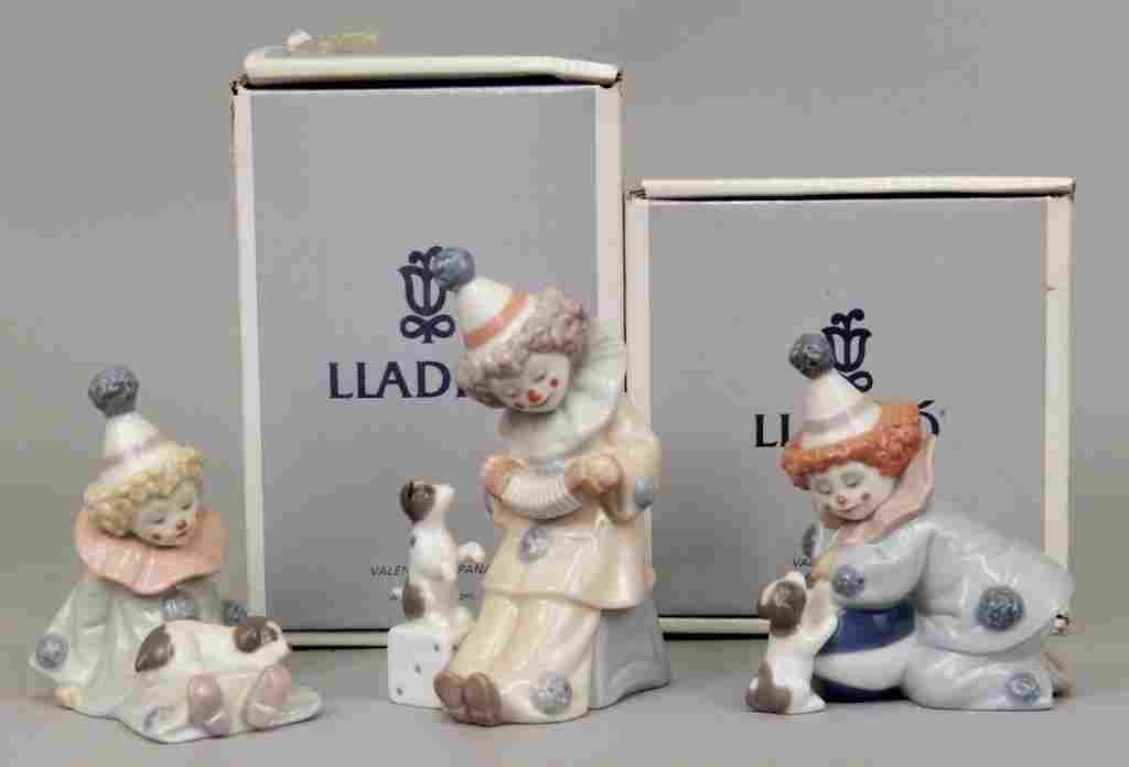 Three Lladro porcelain figurines, two in original boxes