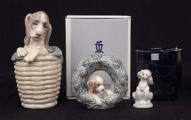 Three Lladro porcelain figurines two in original boxes