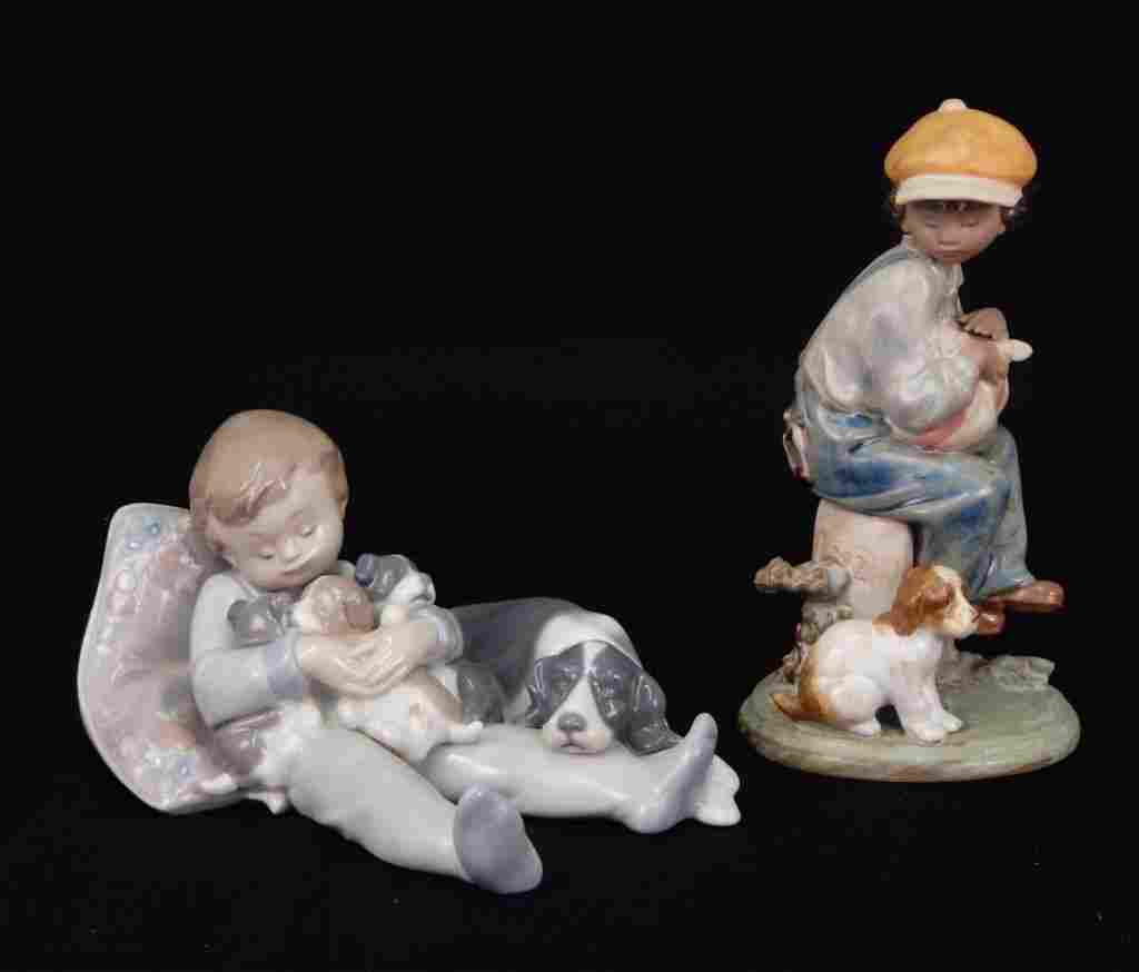 Two Lladro porcelain figurines
