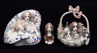 Three Lladro porcelain figurines