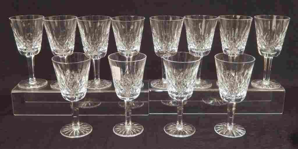 Twelve Waterford Lismore white wines
