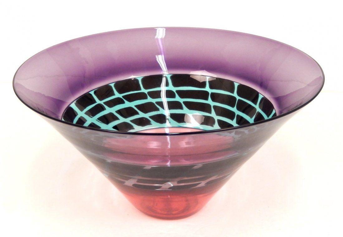 Simon Moore art glass bowl