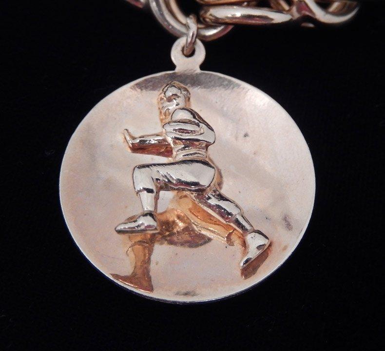 14k gold Philadelphia Eagles charm bracelet - 3