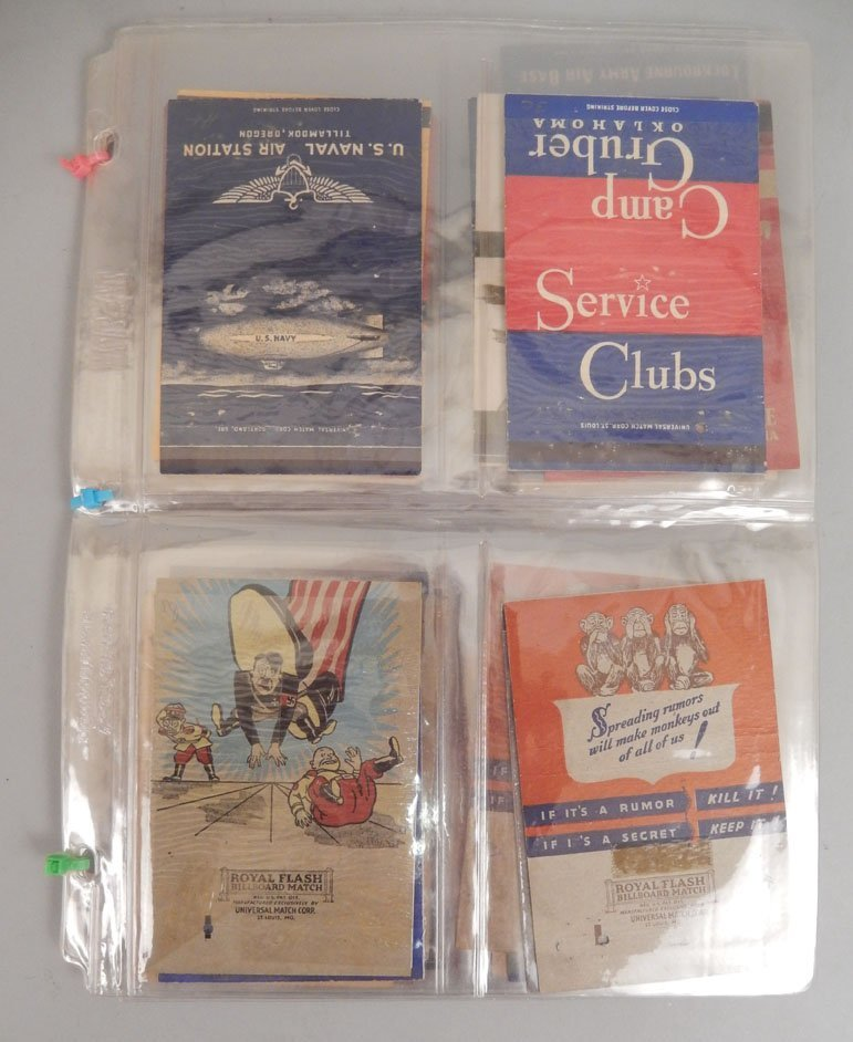 Lot of WWII matchbooks