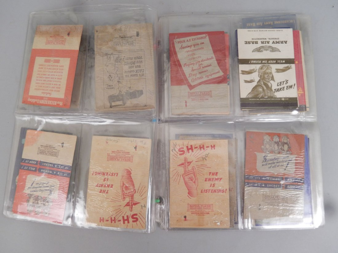 Lot of WWII matchbooks - 2