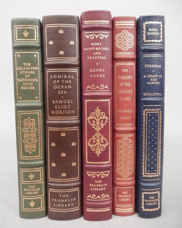 Five Franklin Library books
