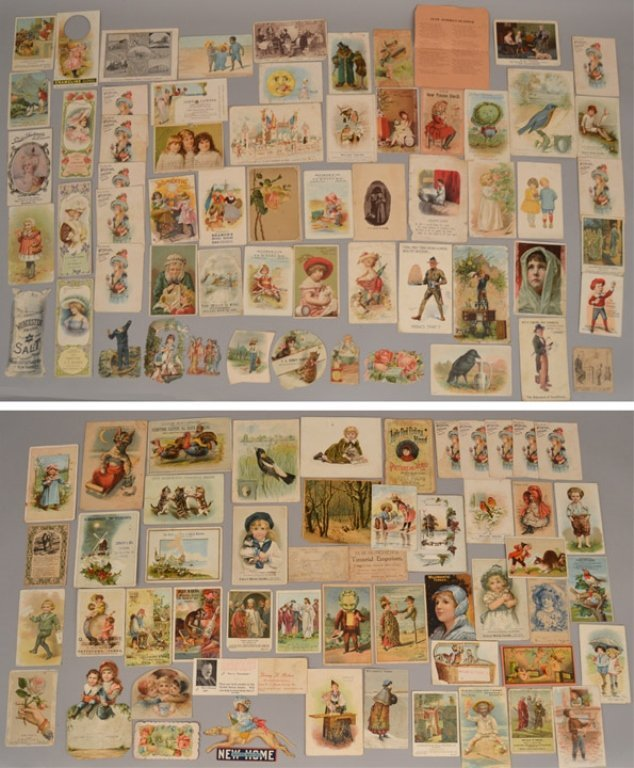 Lot of Victorian trade cards and die cuts