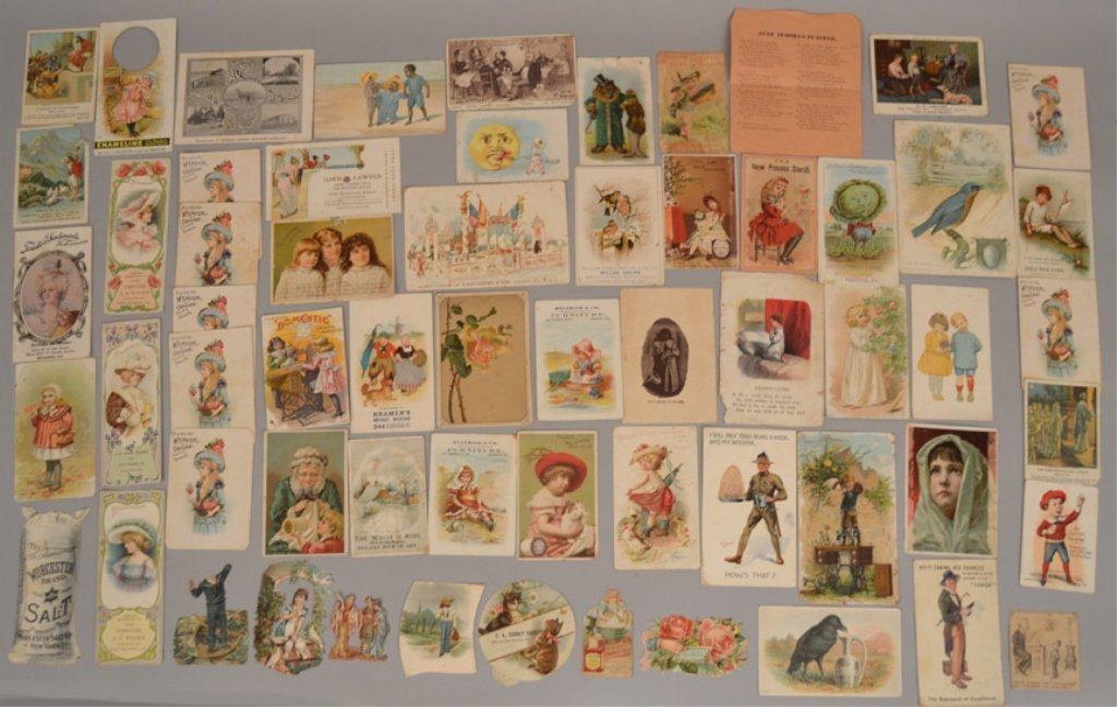 Lot of Victorian trade cards and die cuts - 2