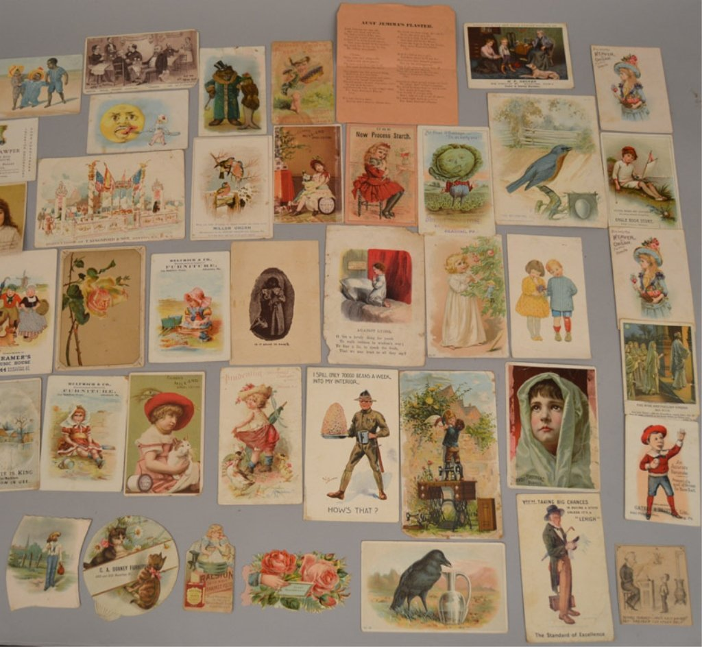 Lot of Victorian trade cards and die cuts - 3