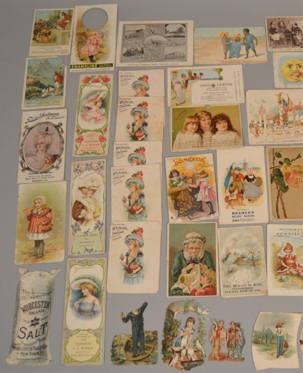 Lot of Victorian trade cards and die cuts - 4