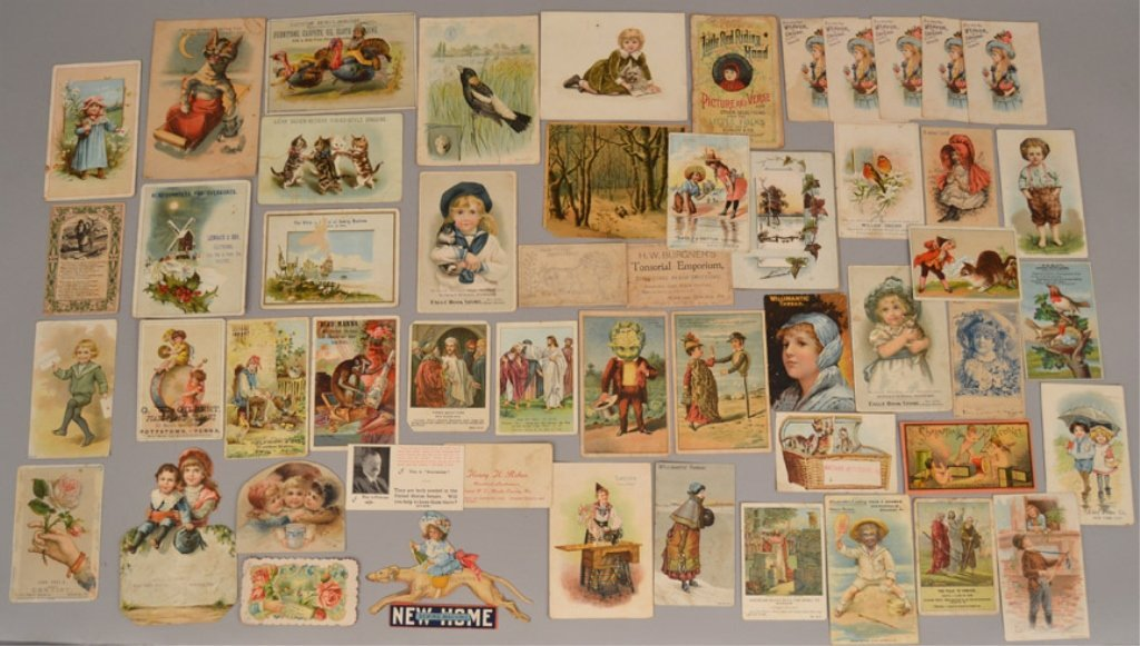 Lot of Victorian trade cards and die cuts - 5